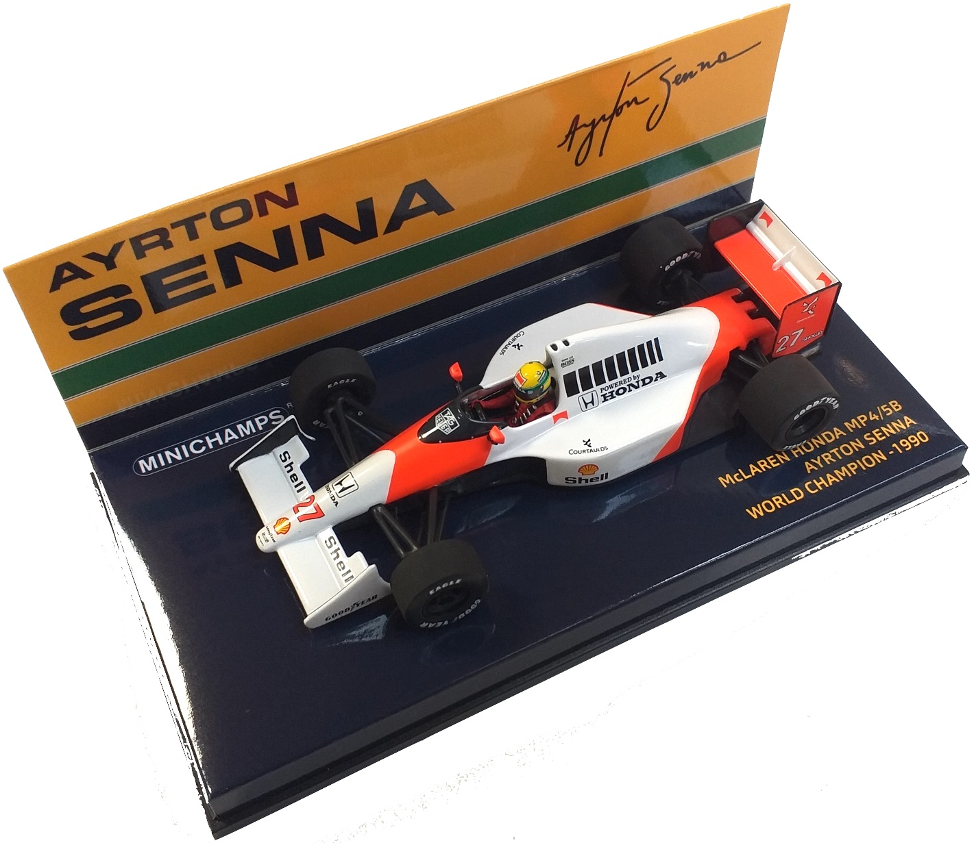 McLaren Honda MP4/5B Ayrton Senna World Champion 1990 1/43