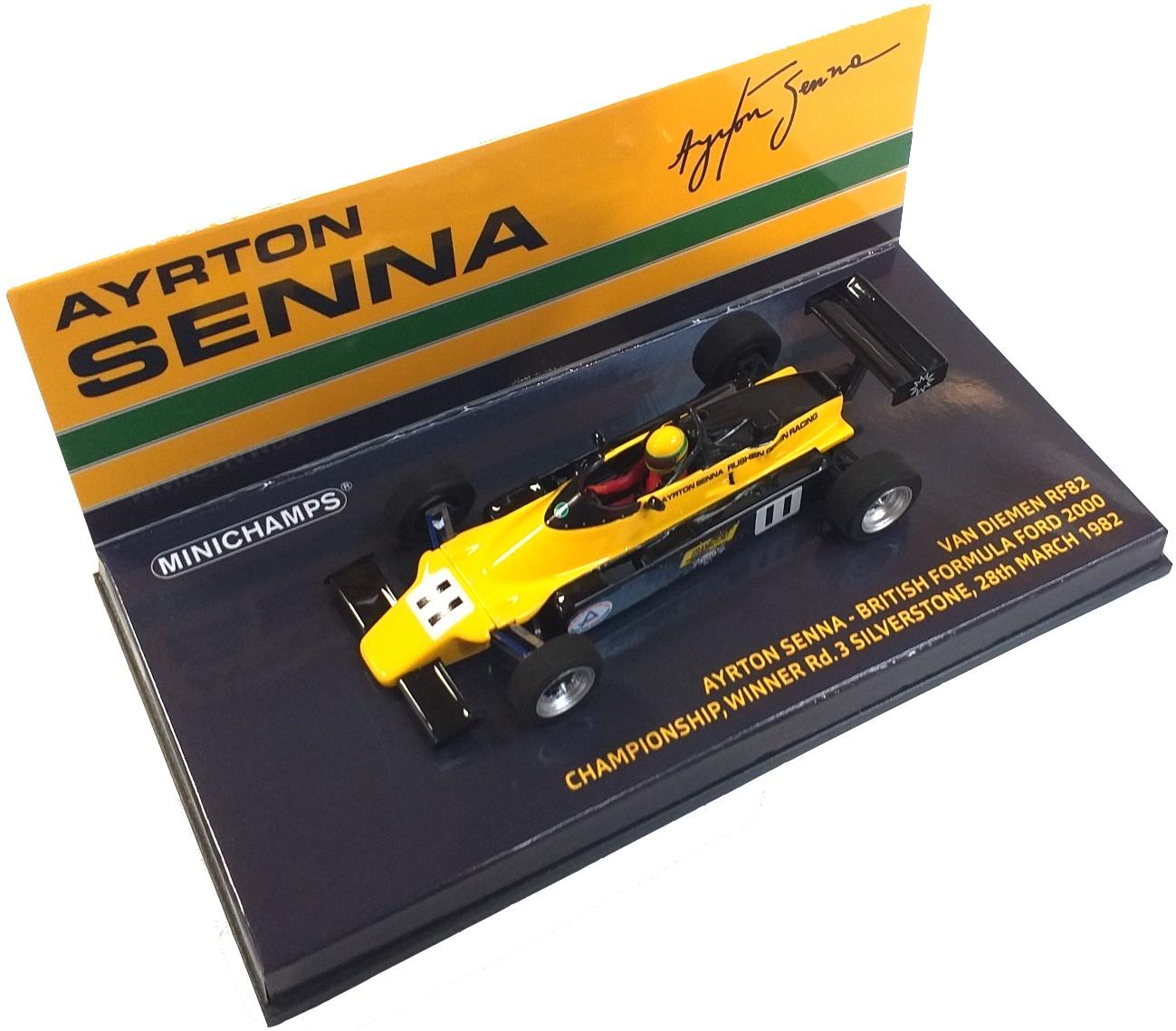 Van Diemen RF82 Ayrton Senna British Formula Ford 2000 Championship Winner Rd. 3 Silverstone 28th March 1982 1/43