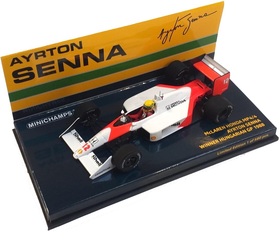 McLaren Honda MP4/4 Ayrton Senna Winner Hungarian GP 1988 1/43