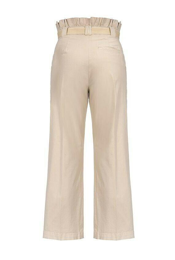Pantalone vita alta beige - PINKO