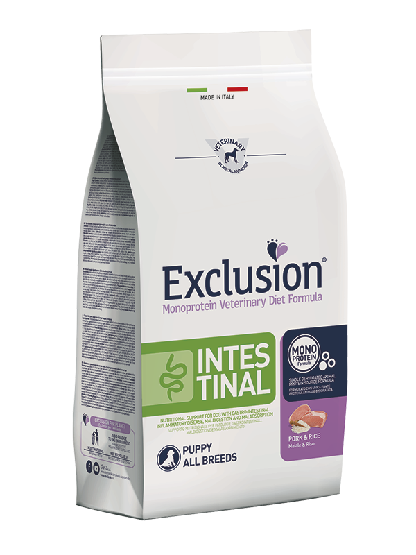 Exclusion Diet Intestinal Puppy Maiale e Riso