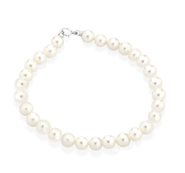 TRAMONTANO - Bracciale Perle vere dia. 6.5/7 mm