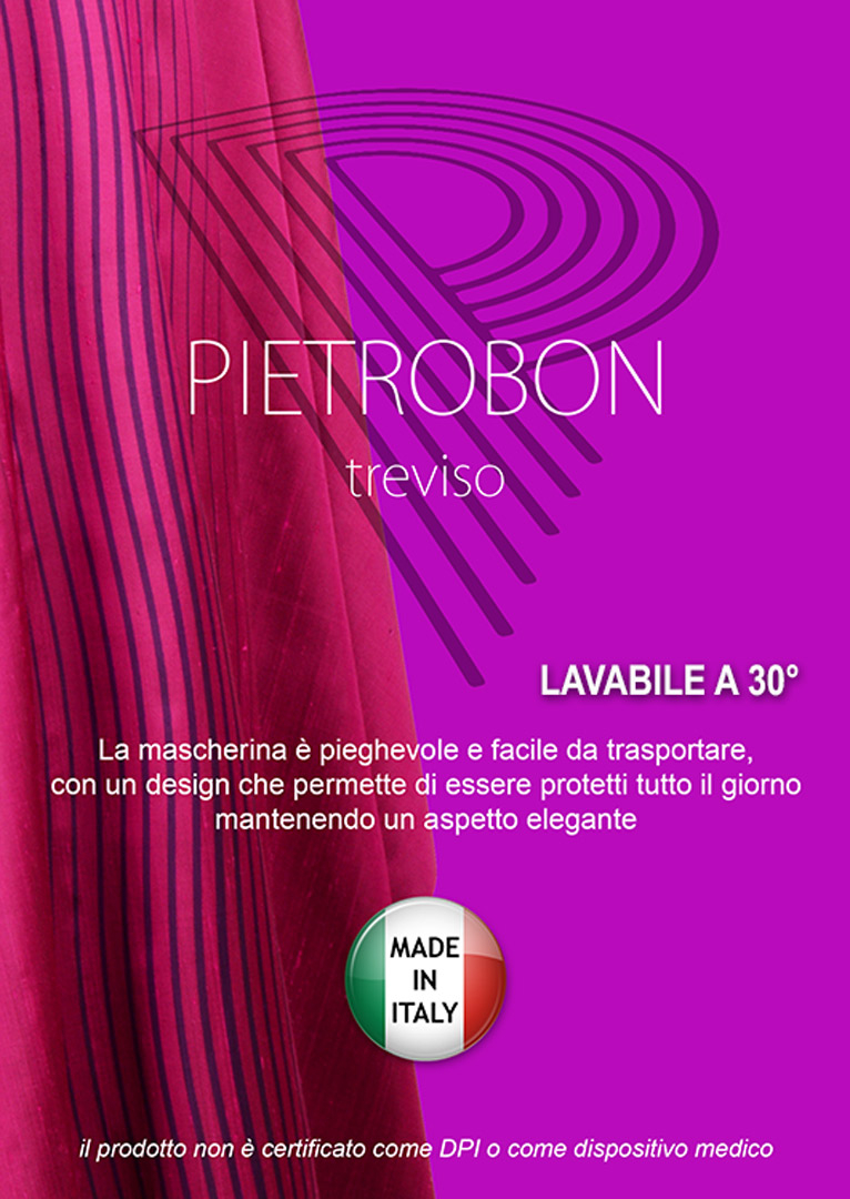 Mascherina in Tessuto Cotone Nero Lavabile
