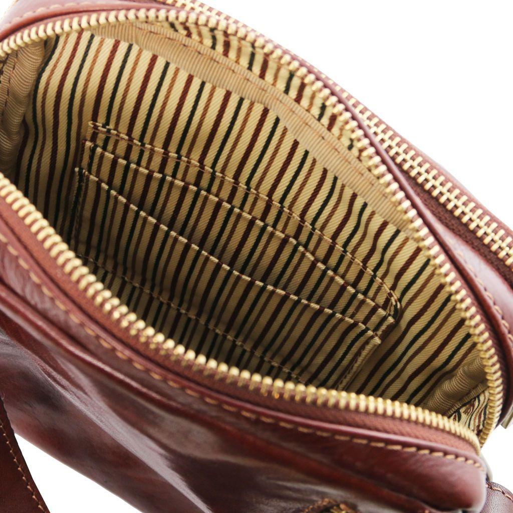 Tuscany Leather TL141915 Larry - Borsello da uomo in pelle Testa di Moro