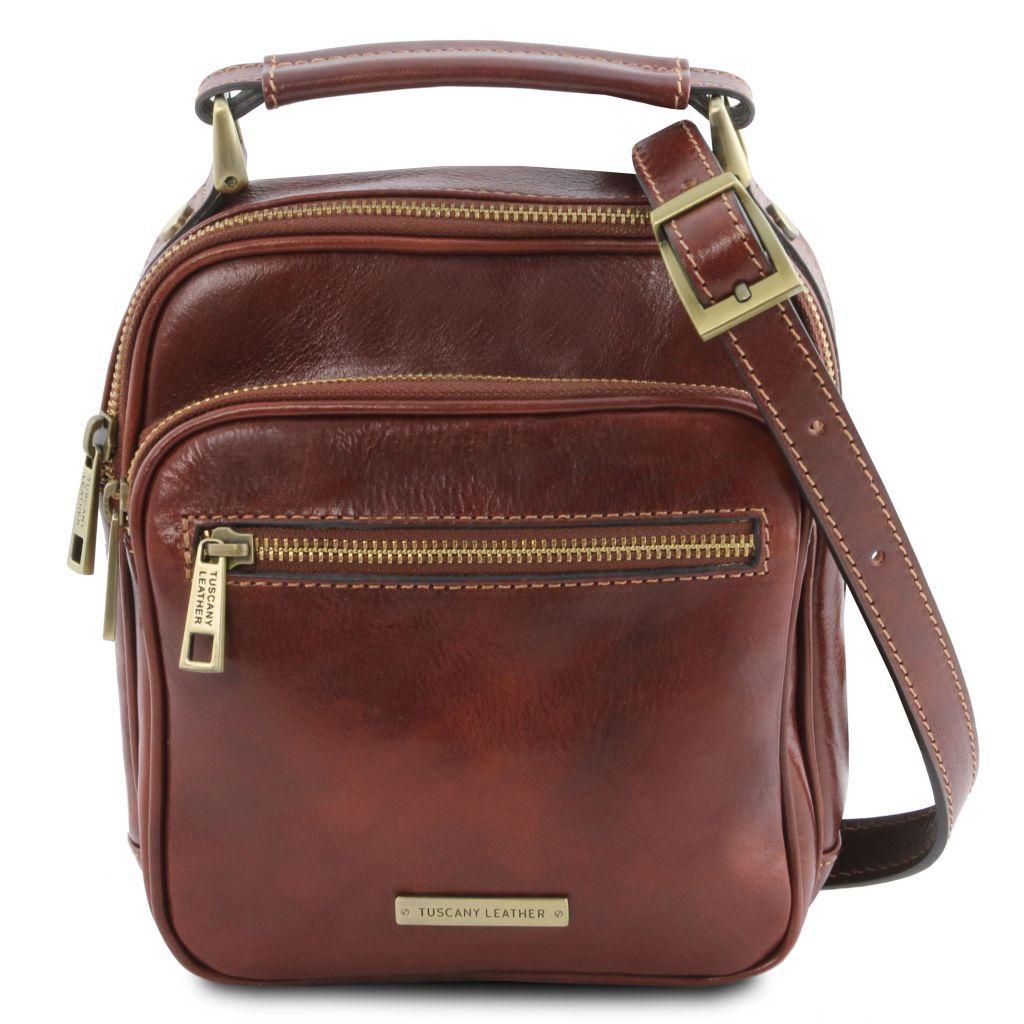 Tuscany Leather TL141916 Paul - Borsello da uomo in pelle Marrone