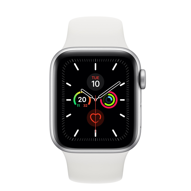 Apple Watch Series 5 smartwatch, 40 mm, Argento OLED GPS (satellitare)