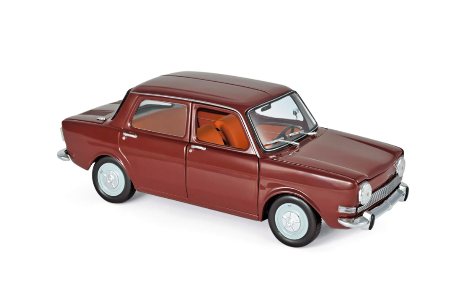 Simca 1000 Ls 1974 Amarante Red 1/18