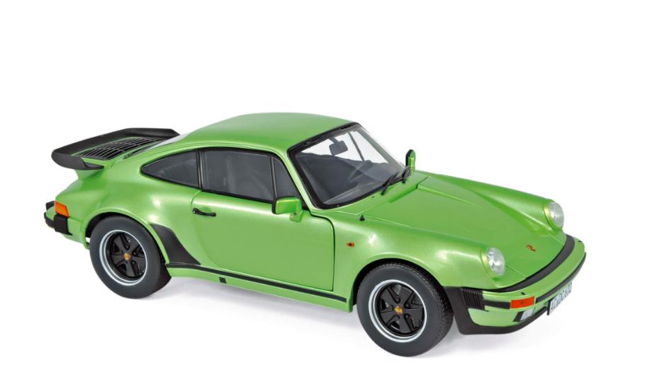 Porsche 911 Turbo 3.3 1978 Silvergreen Metallic 1/18