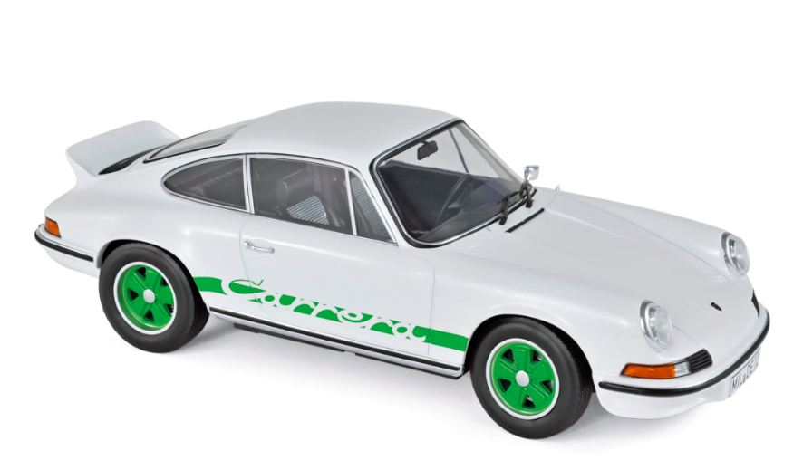 Porsche 911 RS Touring 1973 White & Green Deco 1/18