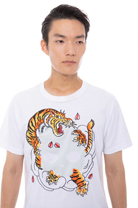 SHOPPING ON LINE HYDROGEN T-SHIRT COLORE BIANCO E NERO TIGER HORIOKAMI TEE NEW COLLECTION SPING SUMMER 2020