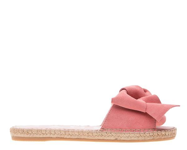 Sandali fiocco pelle paradise pink - MANEBI