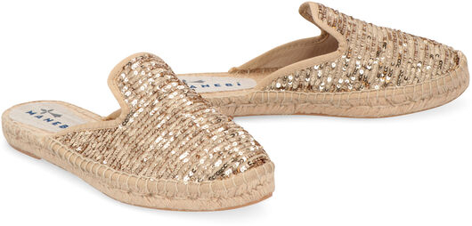 Los Angeles mules paillettes gold - MANEBI