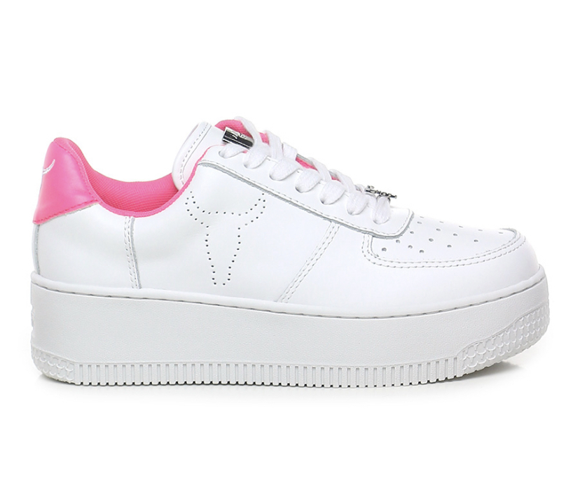WINDSOR SMITH Sneaker Donna RICH WHITE/PINK.  -19