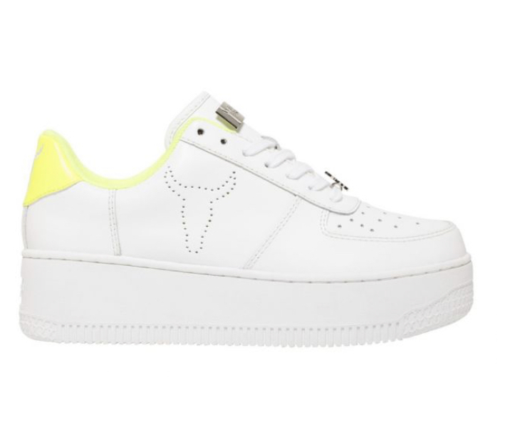 WINDSOR SMITH Sneakers Donna RICH WHITE/YELLOW.  -19