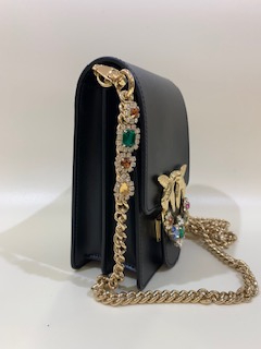 SHOPPING ON LINE PINKO SMART BAG JEWELS IN PELLE LOVE SMART JEWELS COLORI GIALLO E NERO  NEW COLLECTION  WOMEN'S SPRING SUMMER 2020