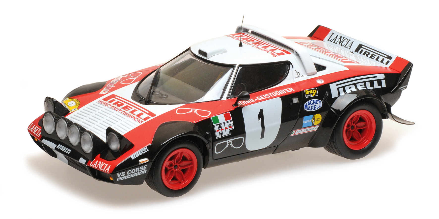 Lancia Stratos Lancia Pirelli Röhrl Geistdörfer Winners Dynavit Saarland Rallye 1978 1/18