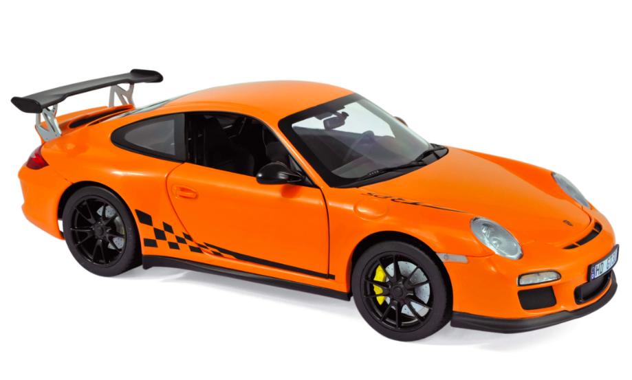 Porsche 911 GT3 RS 2009 Orange 1/18