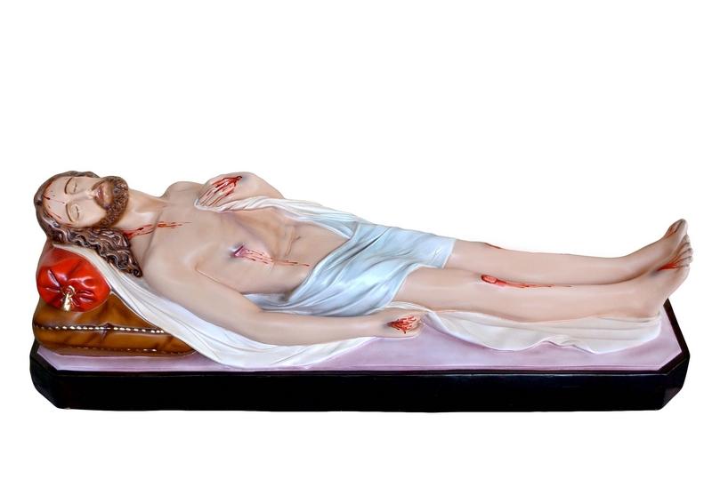 Gesù morto in vetroresina cm. 115