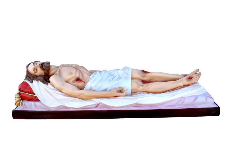 Gesù morto in vetroresina cm. 160
