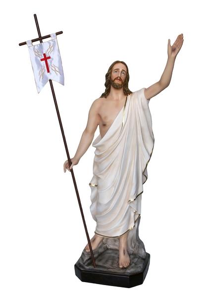 Gesù Risorto in vetroresina cm. 130