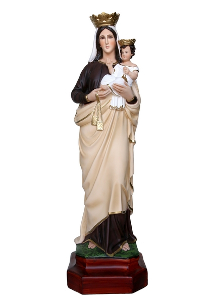 Madonna del Carmelo resina cm. 80