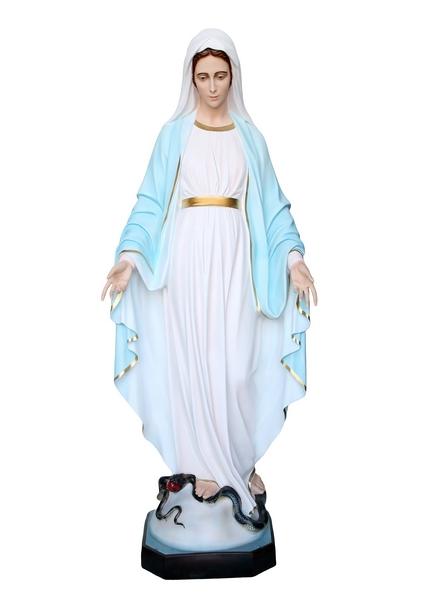 Madonna Miracolosa in vetroresina cm. 180