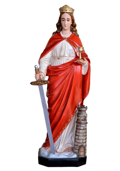 S. Barbara in resina cm. 130