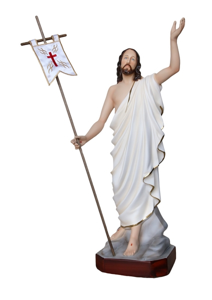 Gesù Risorto in resina cm. 50