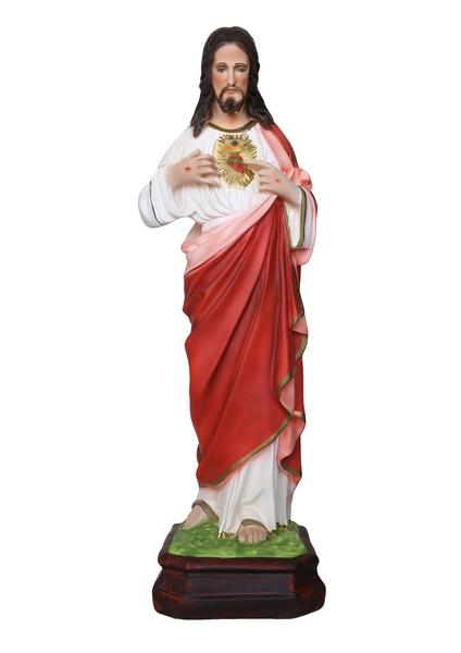 Sacro Cuore in resina cm. 65
