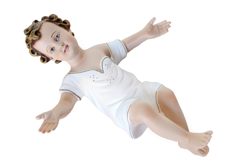 Gesù Bambino in resina con veste cm. 30