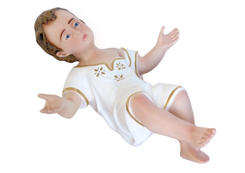 Gesù Bambino in resina con veste cm. 40
