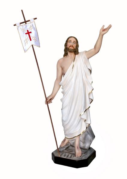 Gesù Risorto in resina cm. 110