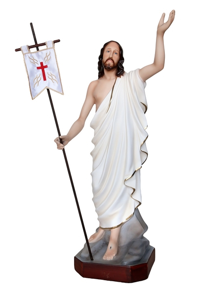 Gesù Risorto in resina cm. 60