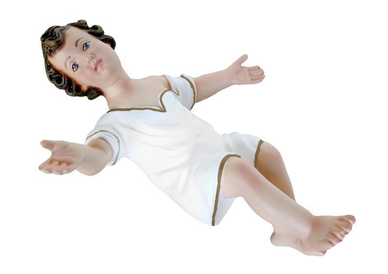 Gesù Bambino in resina con veste cm. 23