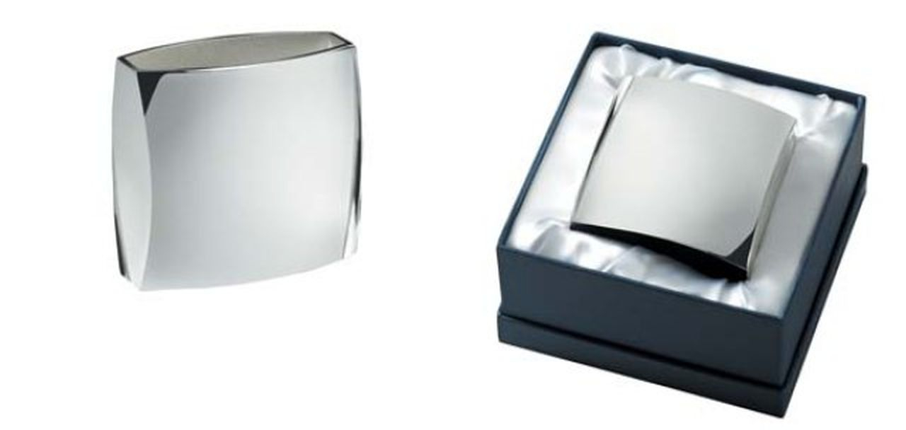 Portapenne jumbo con lux box in silver plated cm.9x4x8,5h