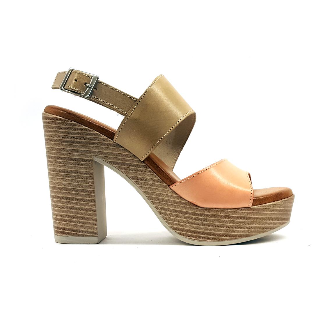 Sandalo beige/nude Raquel Perez