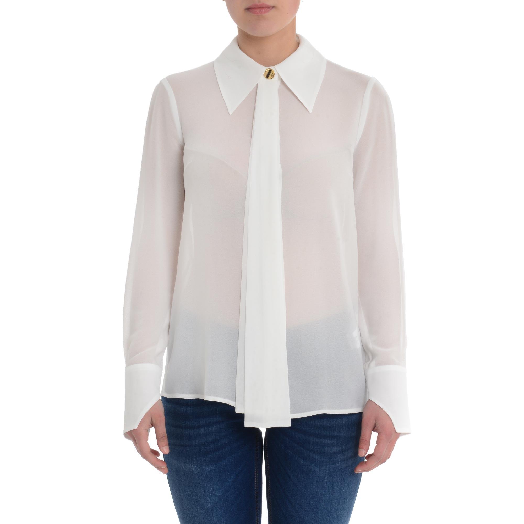 Camicia Donna Elisabetta Franchi CA27302E2 360AVORIO  -19