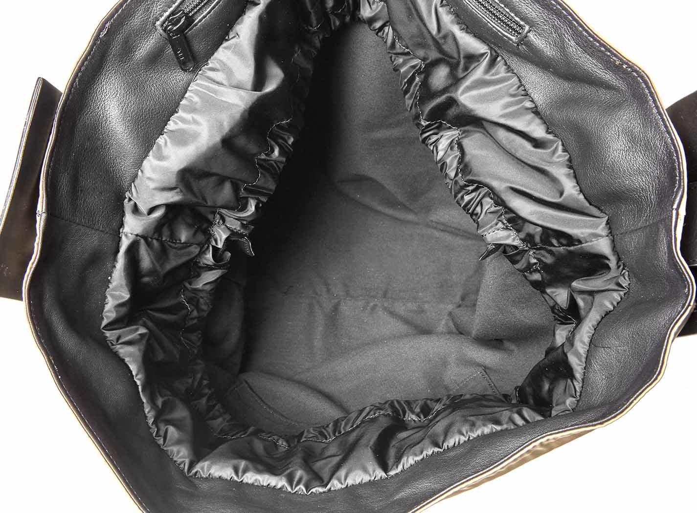 Sacca in nylon con banda laterale in pelle Vic Matiè