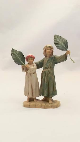 Bambini con le palme cm. 12