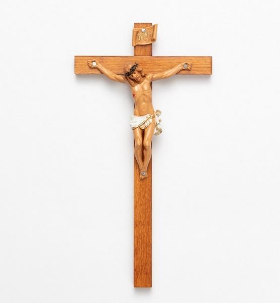 Croce legno corpo pvc cm. 23