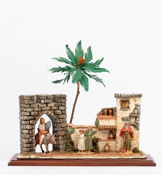 Scena domenica delle palme con personaggi cm. 12