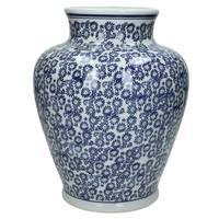 vaso porcellana bianco blu