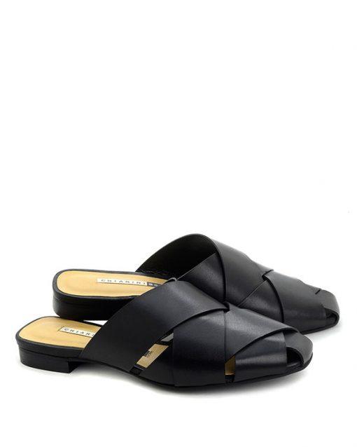 Sandalo basso in pelle nero - CHIARINI BOLOGNA
