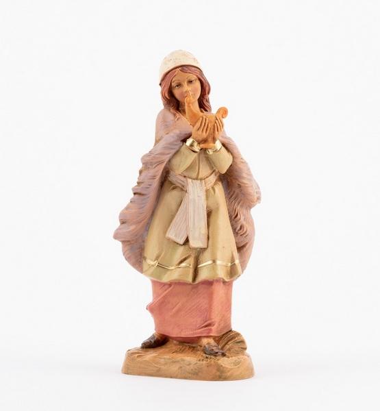 Donna con lucerna cm 12