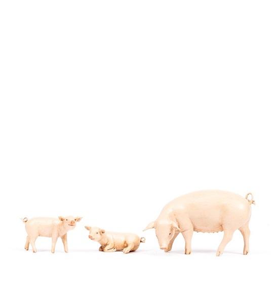 Famiglia maiali per presepio cm 19