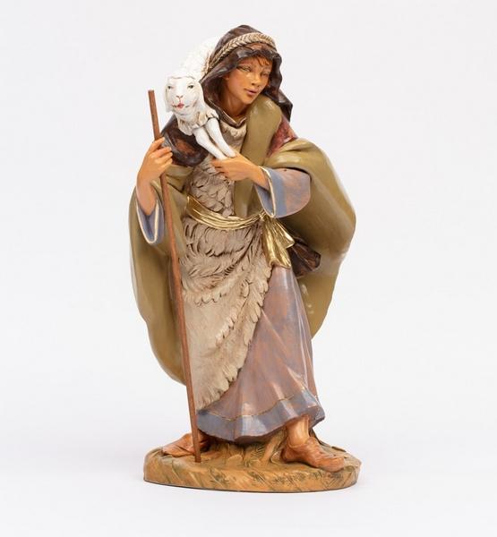 Pastore con pecora in spalla cm 45