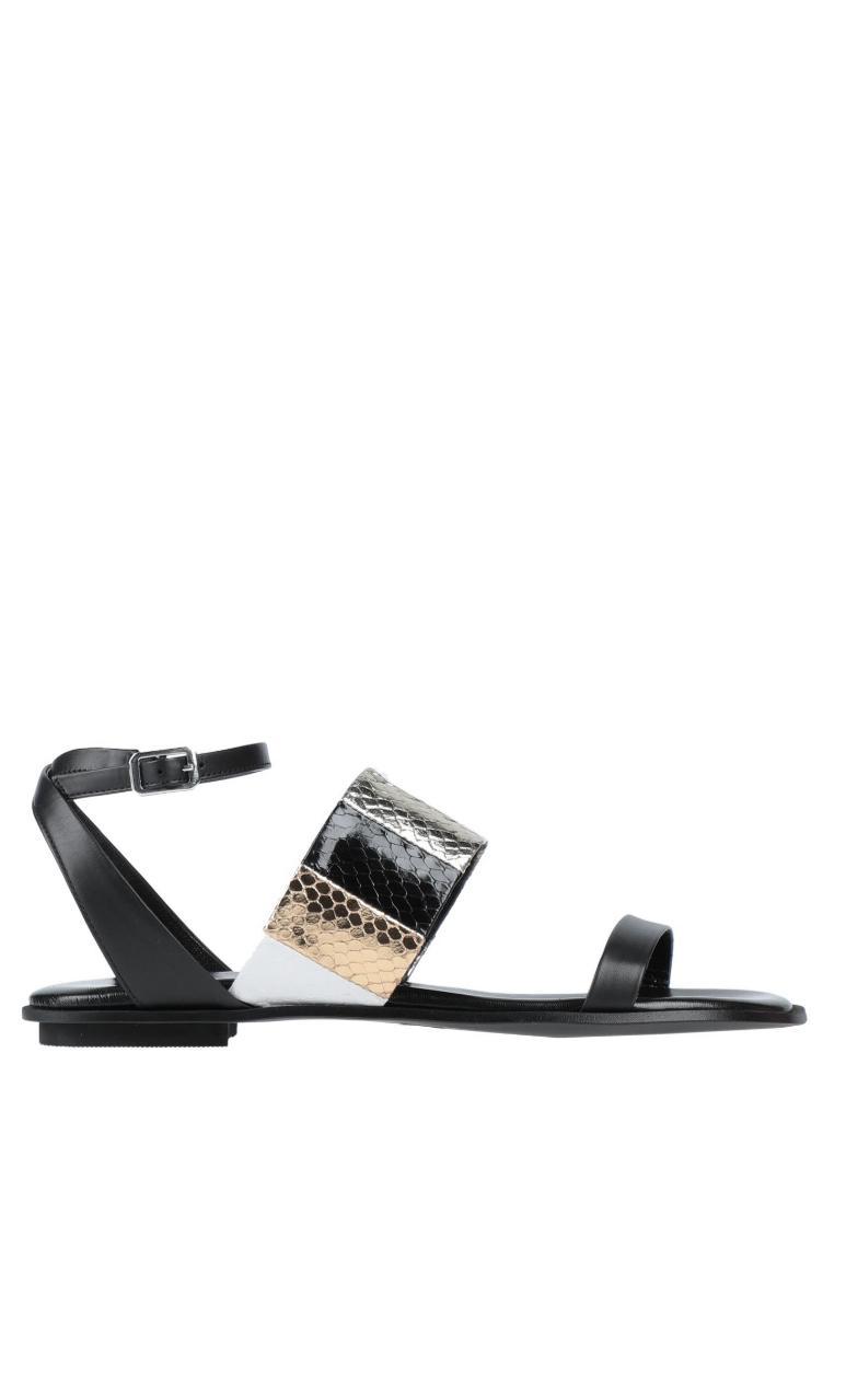 Sandalo flat con fascia stampa cocco - CHIARINI BOLOGNA