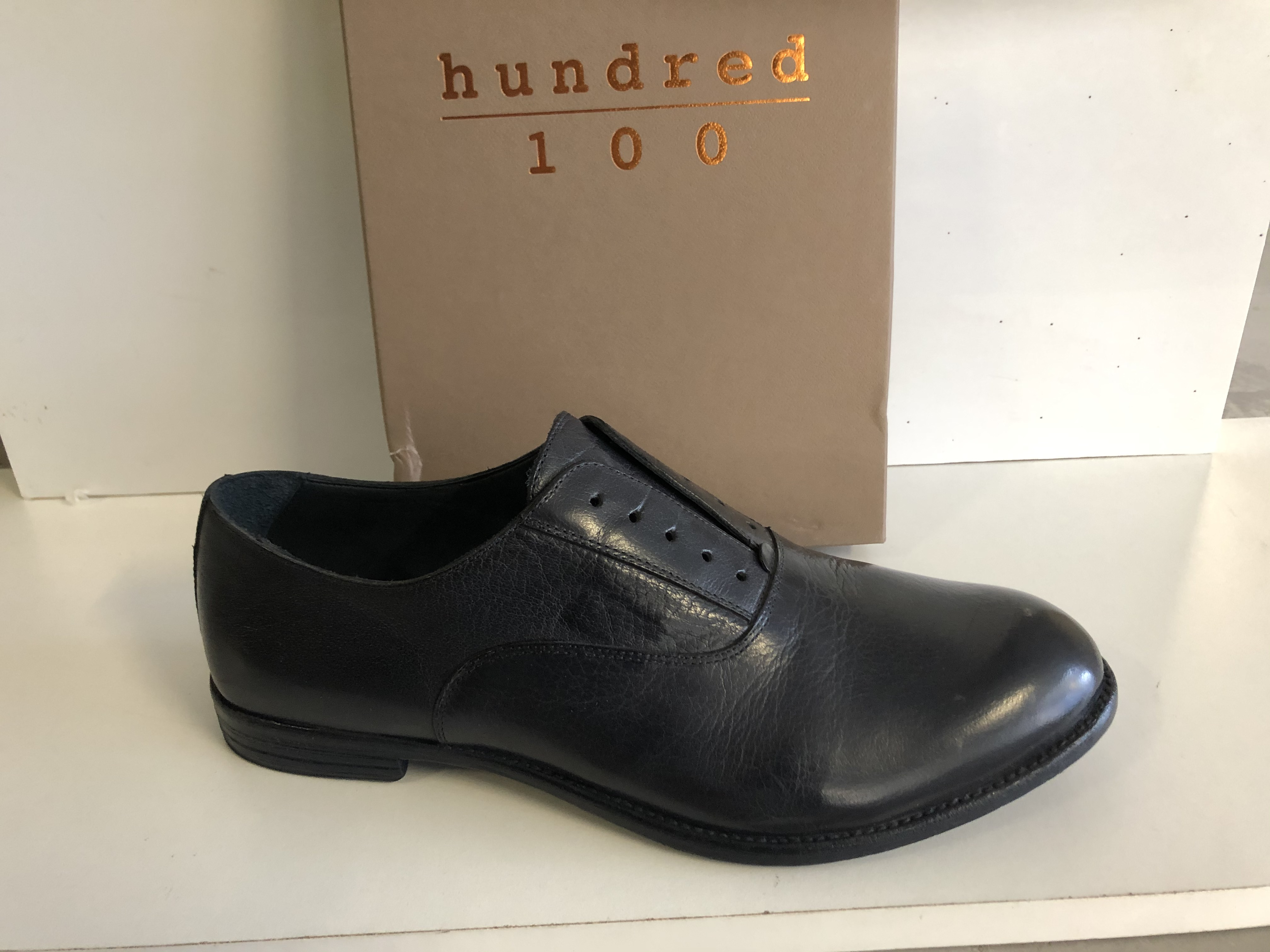 Hundred 100 Scarpa Uomo Francesina Senza Lacci Tuffato Blu M283-62E