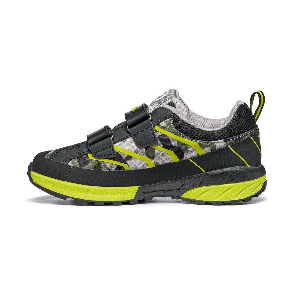 MESCALITO STRAPS KID   -   Scarpa hiking per bambini chiusura a strappi   -  Camouflage-Lime