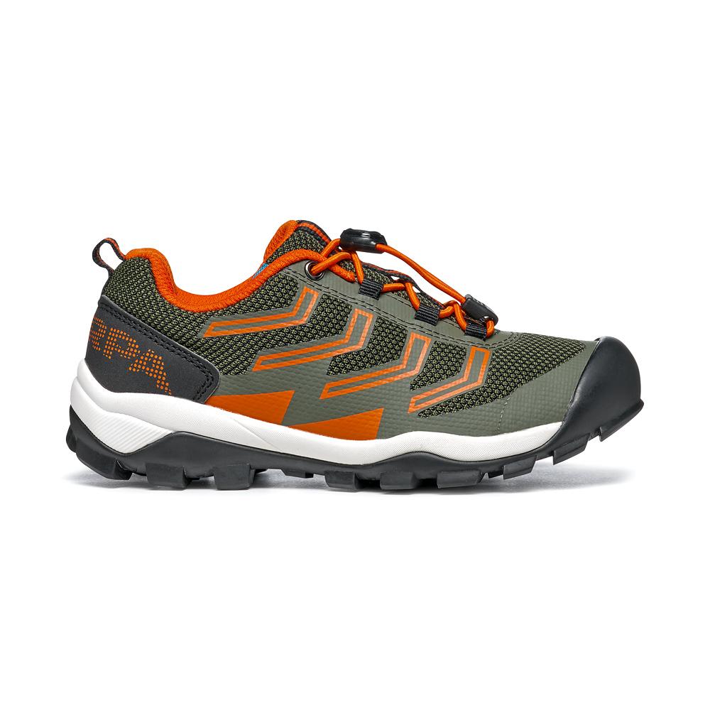 NEUTRON LACE KID   -   Trail Running e passeggiate   -   Military-Orange